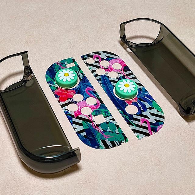 【即日~翌日発送】スイッチ Switch 保護 カバー かわいい おしゃれ フラミンゴ ピンク ブラック_画像3