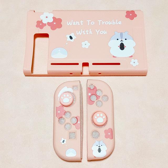 【即日~翌日発送】スイッチ Switch 保護 カバー かわいい ピンク ハムスター_画像4