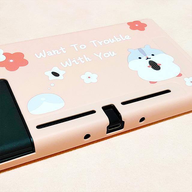 【即日~翌日発送】スイッチ Switch 保護 カバー かわいい ピンク ハムスター_画像2