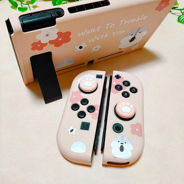 【即日~翌日発送】スイッチ Switch 保護 カバー かわいい ピンク ハムスター_画像3