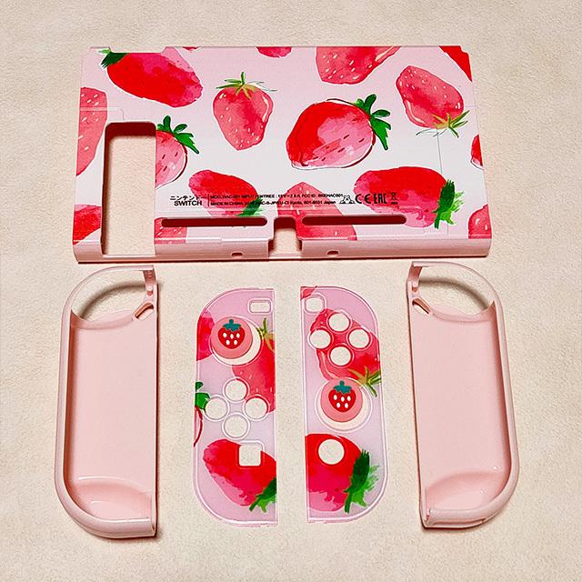 【即日~翌日発送】韓国 いちご 苺 イチゴ Switch スイッチ 収納 ケース カバー セット かわいい ピンク_画像7