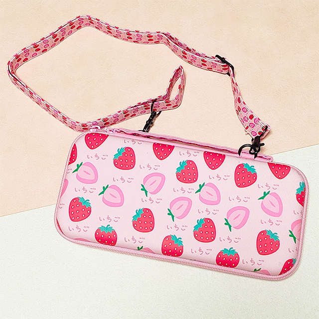 【即日~翌日発送】韓国 いちご 苺 イチゴ Switch スイッチ 収納 ケース カバー セット かわいい ピンク_画像2