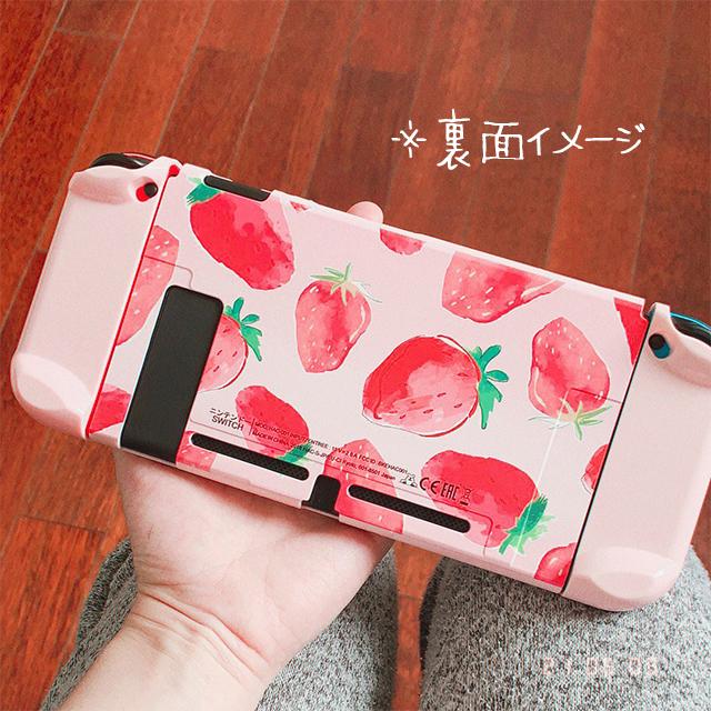 【即日~翌日発送】韓国 いちご 苺 イチゴ Switch スイッチ 収納 ケース カバー セット かわいい ピンク_画像9