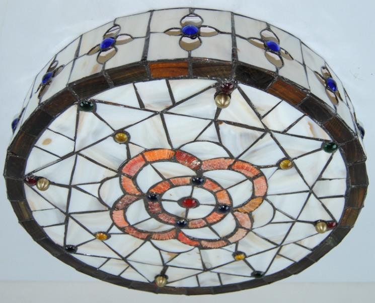高品質☆ ステンドグラス ペンダントライト 豪華天井照明ステンドグラスランプ ガラス貝工芸品_画像6