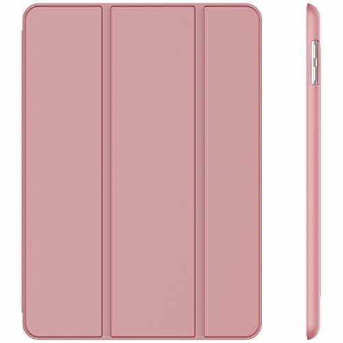 ピンク JEDirect iPad 9.7 (2018 / 2017) ケース PUレザー 三つ折スタンド オートスリープ機能 _画像1