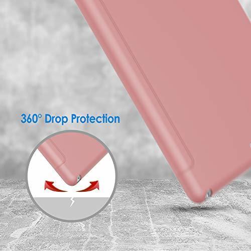 ピンク JEDirect iPad 9.7 (2018 / 2017) ケース PUレザー 三つ折スタンド オートスリープ機能 _画像6