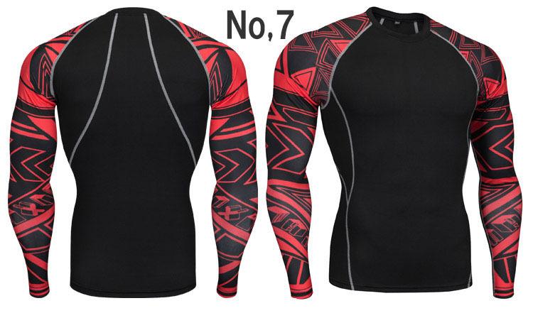 コンプレッションウエア No,7 Lサイズ メンズ 加圧インナー アンダーシャツ トレーニングウエア スポーツウエア 長袖 吸汗 速乾 p12