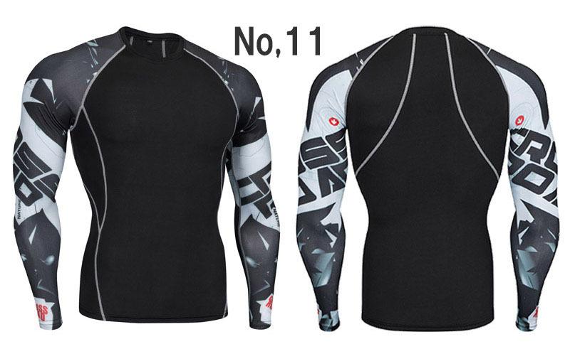コンプレッションウエア No,11 Mサイズ メンズ 加圧インナー アンダーシャツ トレーニングウエア スポーツウエア 長袖 吸汗 速乾 p12