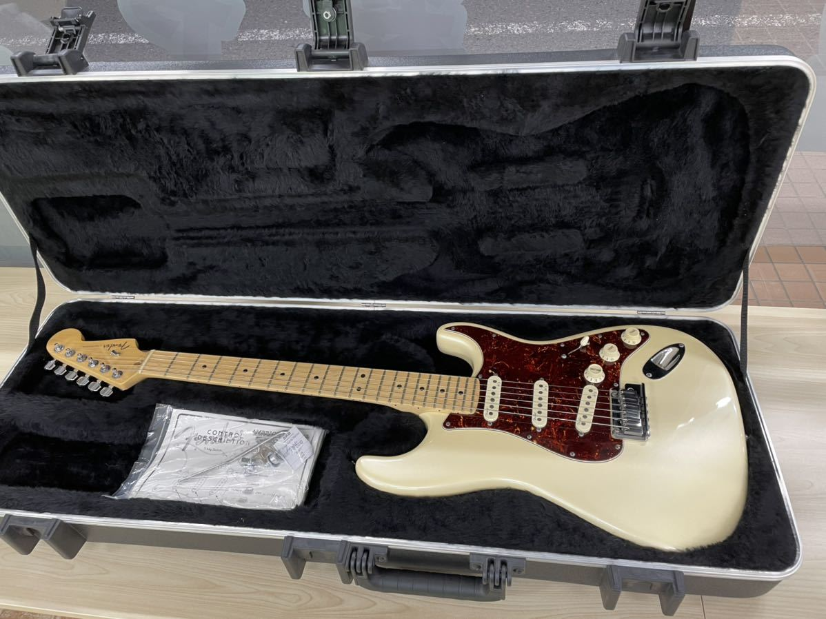 Fender USA American Deluxe Stratocaster N3 Olympic Pearl_画像1