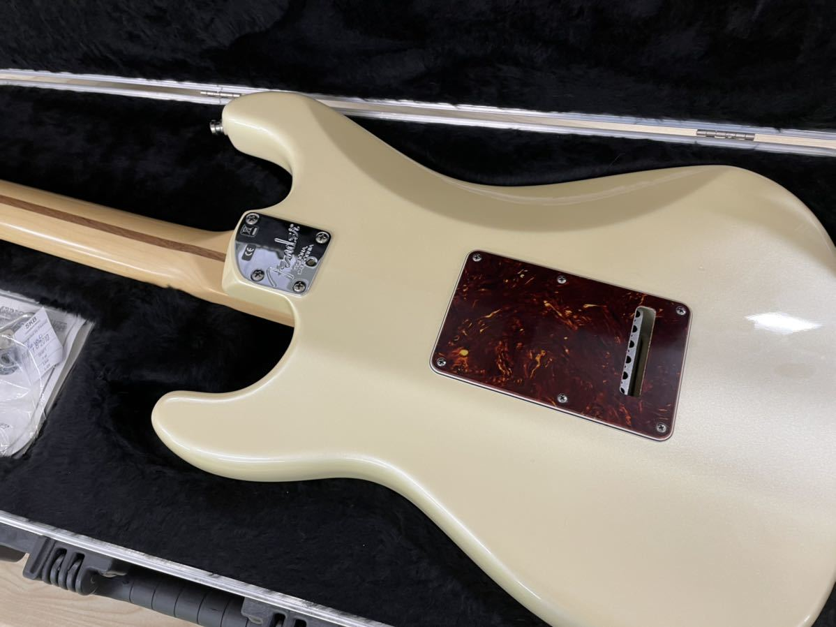 Fender USA American Deluxe Stratocaster N3 Olympic Pearl_画像9