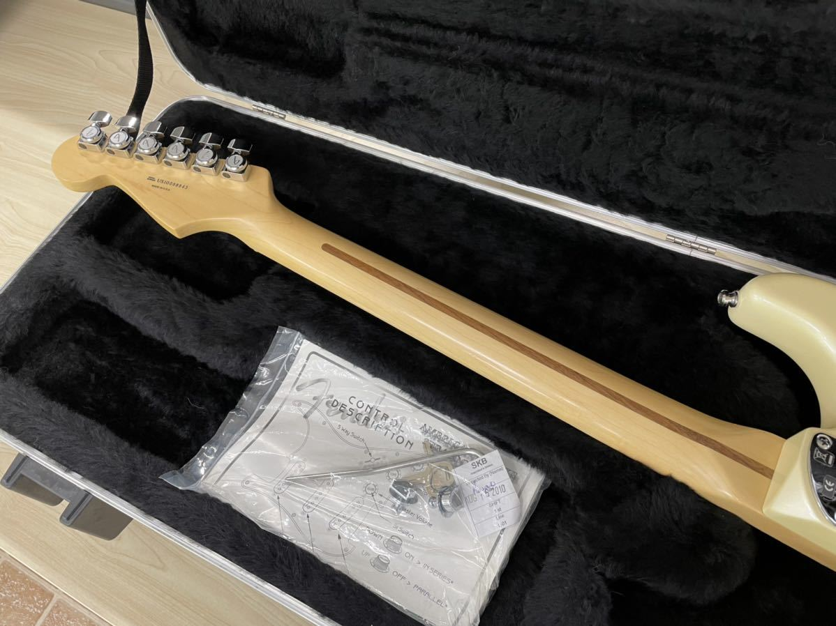 Fender USA American Deluxe Stratocaster N3 Olympic Pearl_画像8