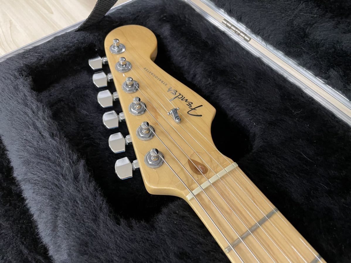 Fender USA American Deluxe Stratocaster N3 Olympic Pearl_画像4