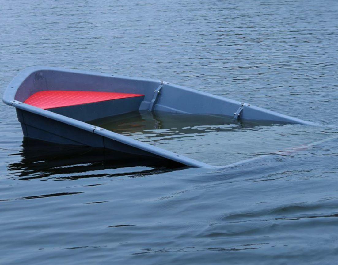 「★新品未使用★船外機可 2分割ボート 2.2メートル フィッシングボート 車載 釣り 未使用 ゴムボート TT853」の画像2