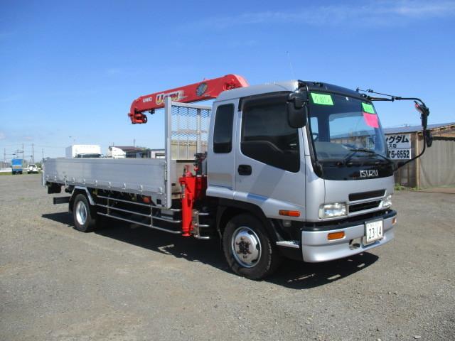 イスズ フォワード 4段クレーン アルミブロック 4WD ラジコン付・フックイン 増トン車(大型免許)_外装 全塗装済