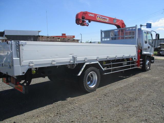 イスズ フォワード 4段クレーン アルミブロック 4WD ラジコン付・フックイン 増トン車(大型免許)_アルミブロック