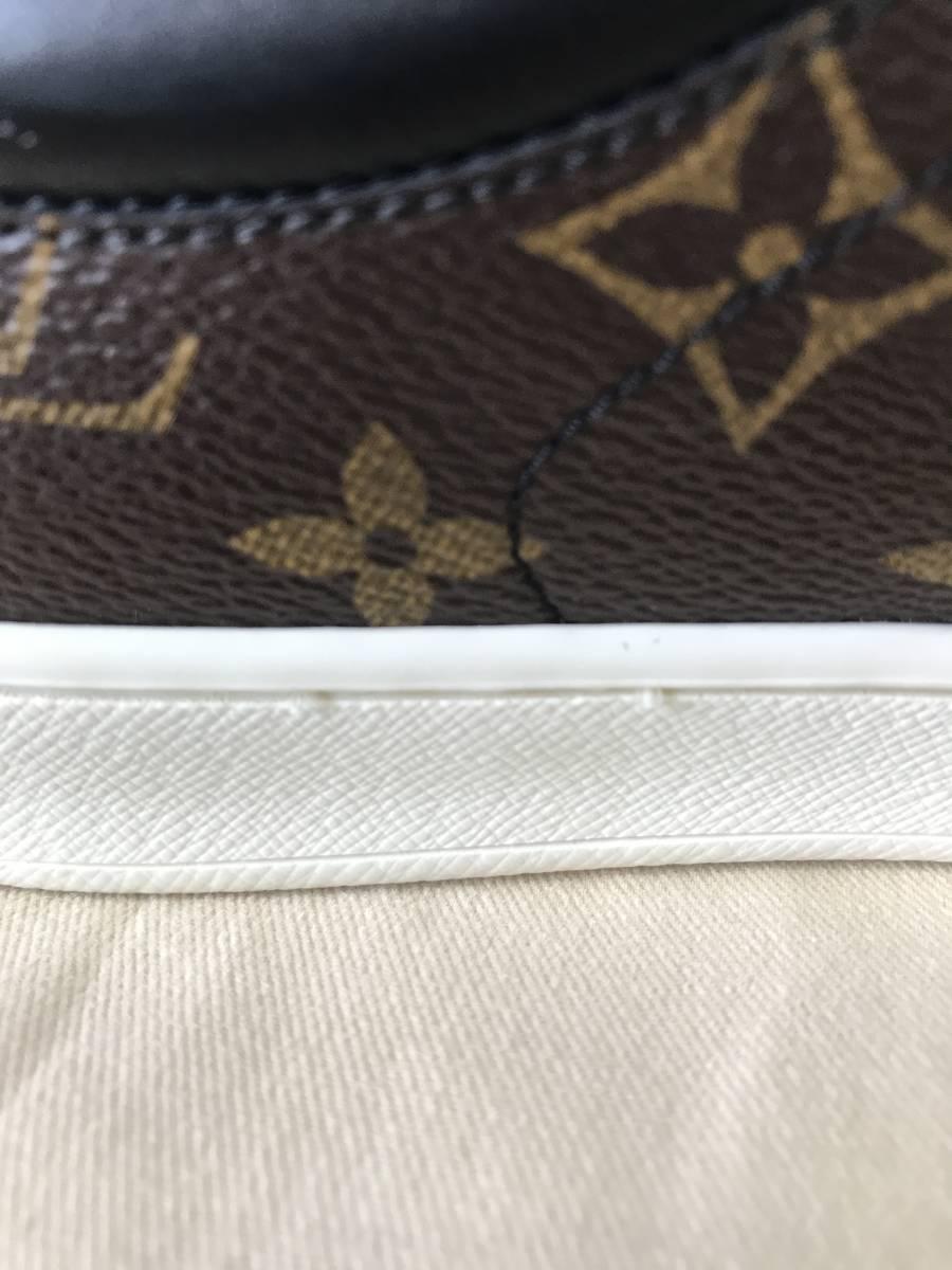 ルイ・ヴィトン LOUIS VUITTON ルクセンブルグ・ライン スニーカー 靴 LVサイズ6.0 新品 未使用_左靴ソール内側2箇所に糸?の飛び出し