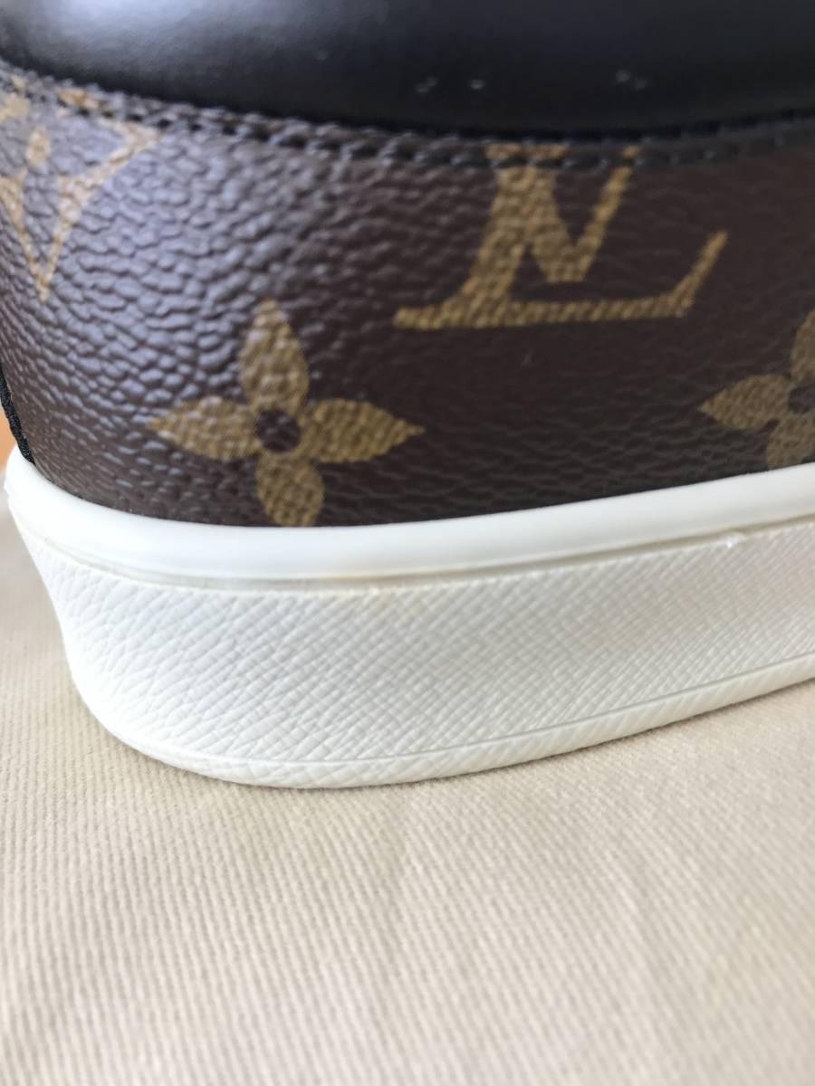 ルイ・ヴィトン LOUIS VUITTON ルクセンブルグ・ライン スニーカー 靴 LVサイズ6.0 新品 未使用_左靴ソール内側後方にわずかな着色