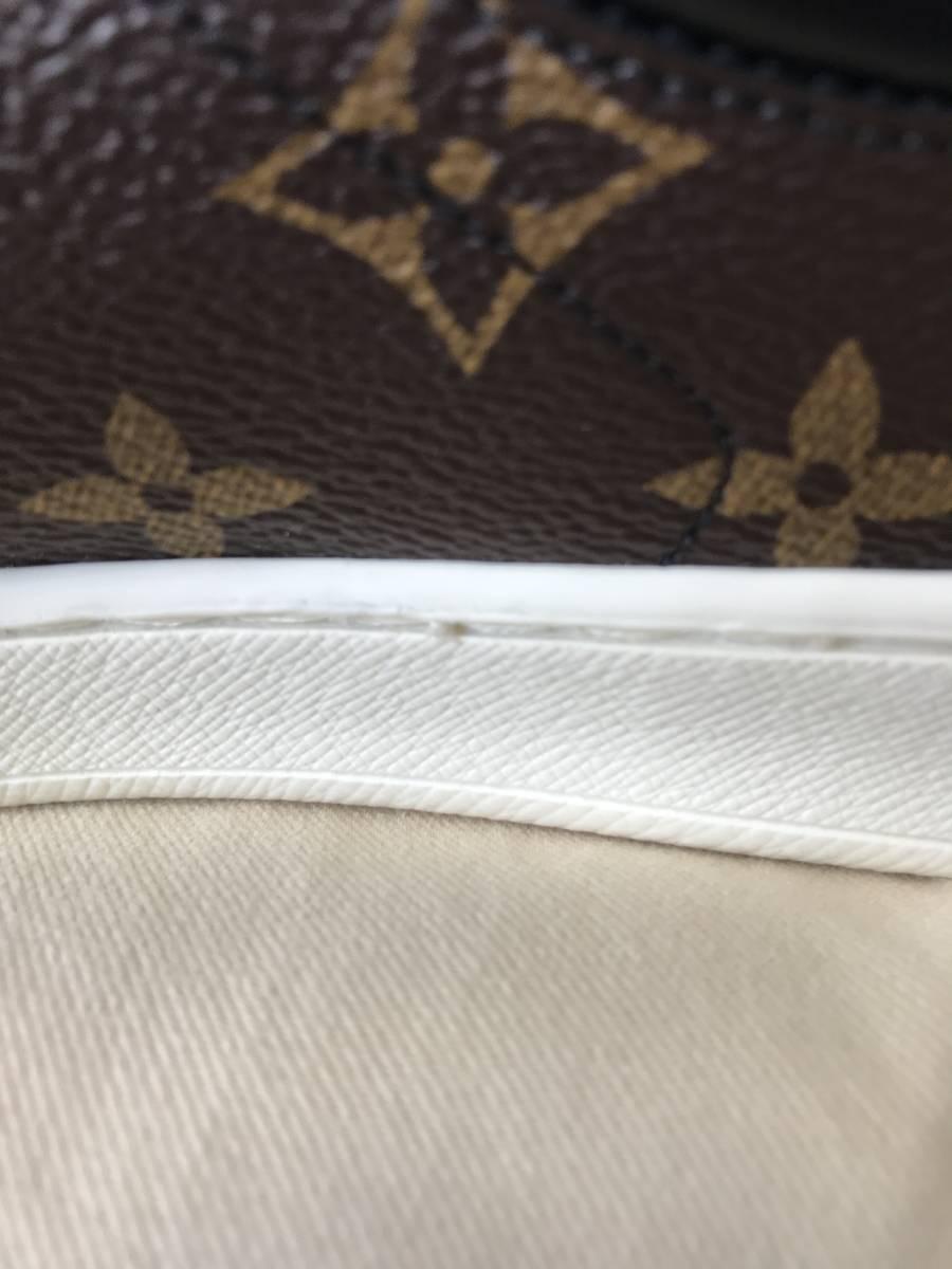 ルイ・ヴィトン LOUIS VUITTON ルクセンブルグ・ライン スニーカー 靴 LVサイズ6.0 新品 未使用_右靴ソール内側の糸?の飛び出し