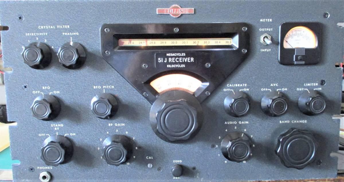 【ビンテージ機器 COLLINS 51J-2 動作確認品】 _パネルは年代の割にはきれいです。