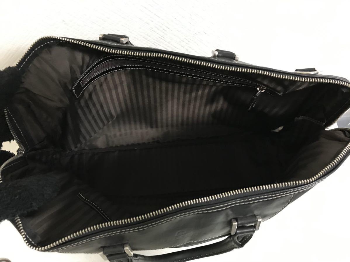 本物デュモンクスDEUXMONCX本革レザーナイロンハンドビジネスバッグトートボストンバック黒ブラックレディースメンズ旅行トラベル