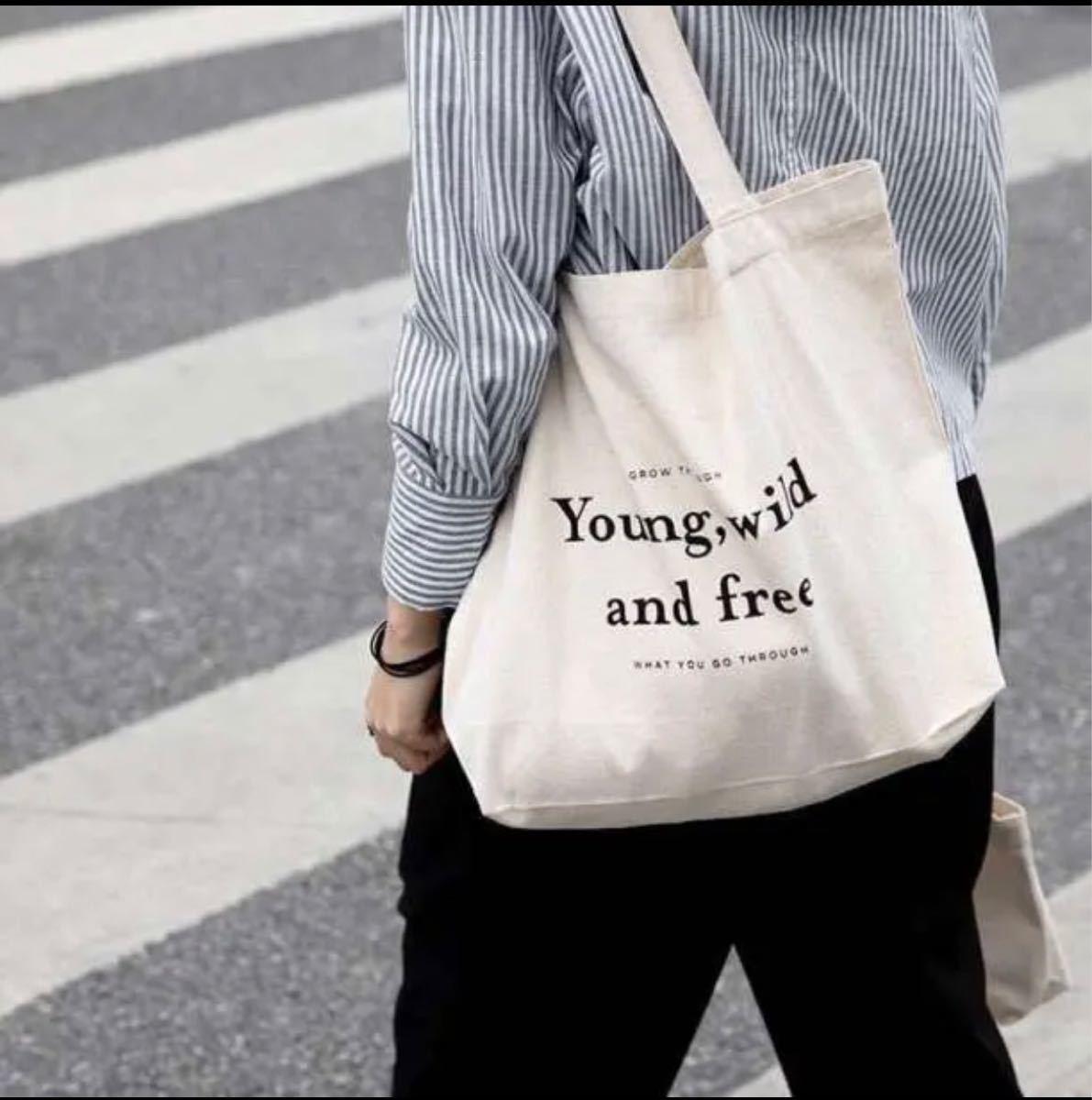 トートバッグ キャンバス ショルダーバッグ A4 オシャレ 帆布 韓国 白