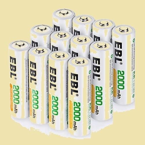 大人気 新品 未使用 単3形充電池 EBL L-TQ 12個入 ケ-ス付き*3(最小容量2000mAh、約1200回使用可能) 充電式ニッケル水素電池_画像1