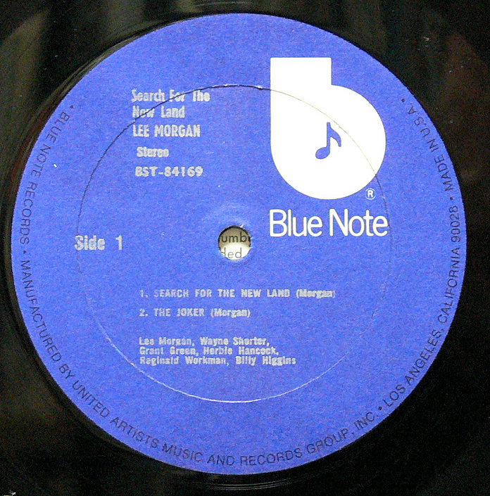 ■【US盤 シュリンク付】Lee Morgan / Search for the New Land Blue Note United Artists VAN GELDER刻印あり _画像3