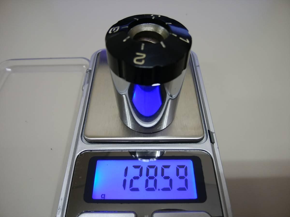 ★★【メーカー不明】トーンアーム メインウエイト 128g ① ★★_参考画像:重量測定