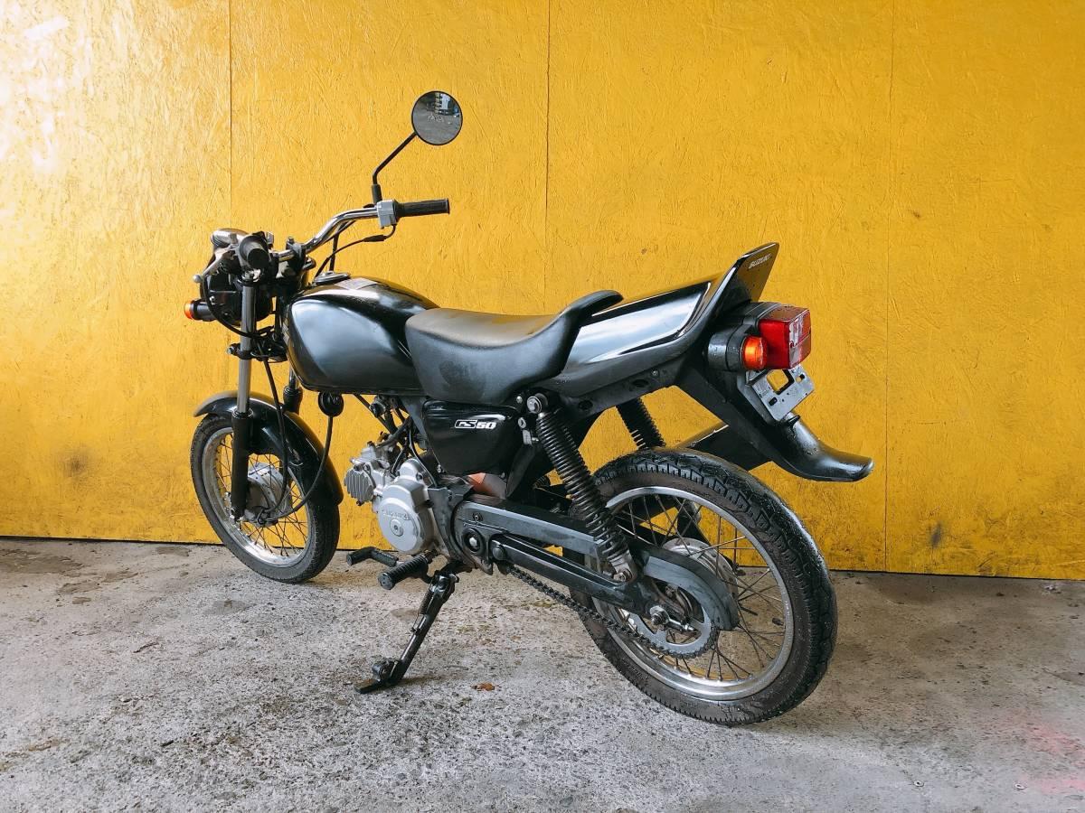 「SUZUKI GS50 NA41A 4サイクル エンジン良好 熊本から」の画像3