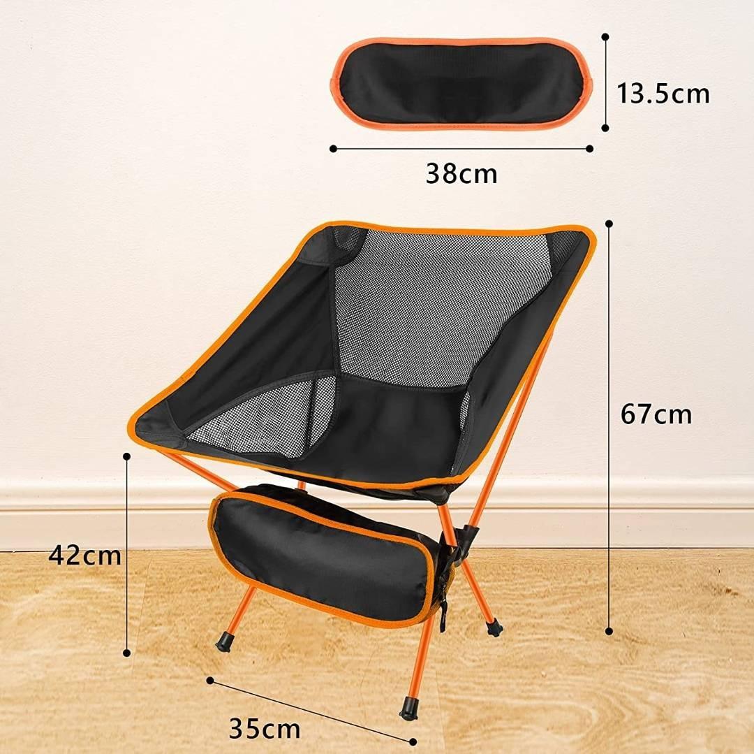 【新品未使用】 Lansion アウトドアチェア 折りたたみ椅子 900g 耐荷重150kg 収納バッグ付き