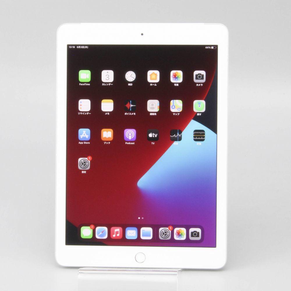 1円スタート SoftBank Apple iPad (第6世代) Wi-Fi + Cellular A1954 MR6P2J/A 32GB シルバー 判定〇 保証付き