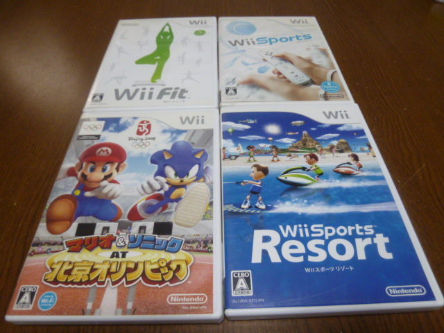 T9【即日配送 送料無料 動作確認済】 Wiiソフト Wiiフィット Wiiスポーツ リゾート マリオ&ソニック 北京