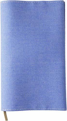スリップオン(SLIP-ON) ブルー 新書判ブックカバー 20カラーデニム 布製 日本製 SLD-1001 スリップオン_画像1