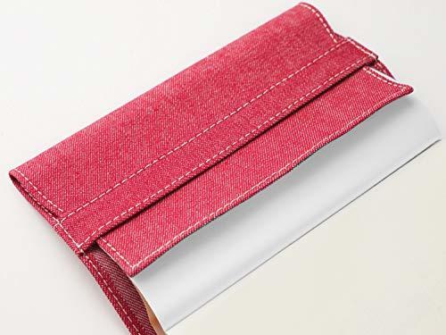 スリップオン(SLIP-ON) ブルー 新書判ブックカバー 20カラーデニム 布製 日本製 SLD-1001 スリップオン_画像5