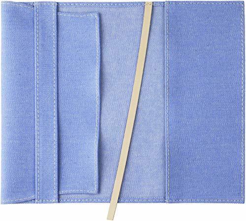 スリップオン(SLIP-ON) ブルー 新書判ブックカバー 20カラーデニム 布製 日本製 SLD-1001 スリップオン_画像2