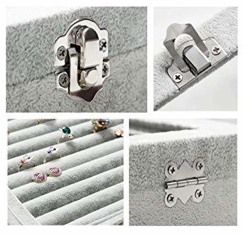 A ジュエリーケース アクセサリーボックス ピアス イヤリングケース 耳飾り収納/ネックレス収納/指輪収納 ケース ベルベット_画像7