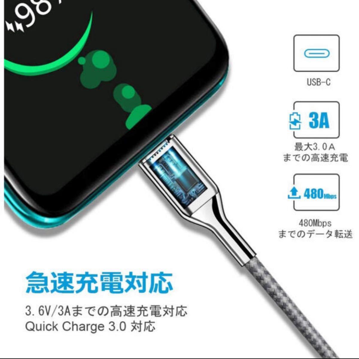 USB Type C ケーブル 充電ケーブル SOEKAVIA 【1mUSB-C & USB-A 3.0 ケーブル