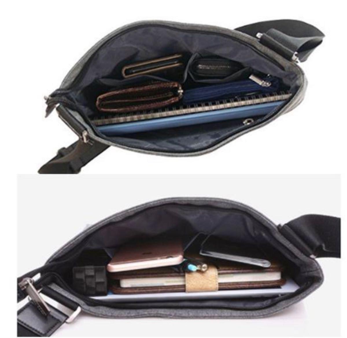メンズ シンプル グレー ショルダー 防水 軽量 メッセンジャー バッグ メンズバッグ ショルダーバッグ ボディバッグ