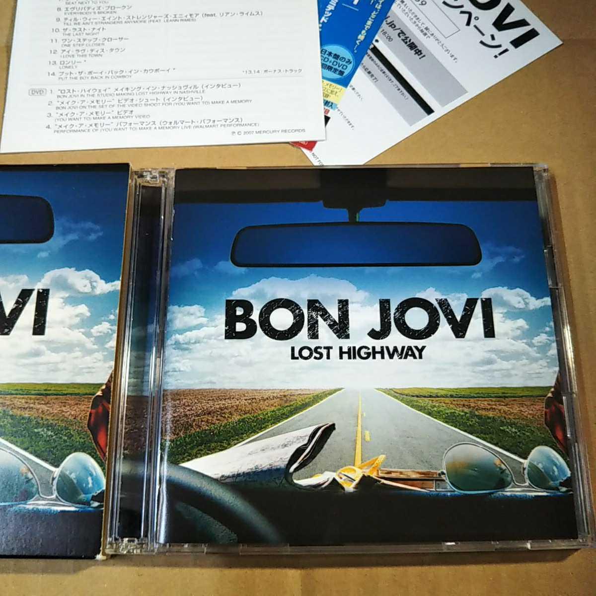 中古CD BON JOVI / ボン・ジョヴィ『LOST HIGHWAY』国内盤/帯有り/紙ケース/2枚組 UICL-9041【1440】