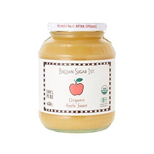 オーガニック 化学調味料無添加 (有機 アップルソース 砂糖不使用 瓶タイプ 100%天然【_画像1