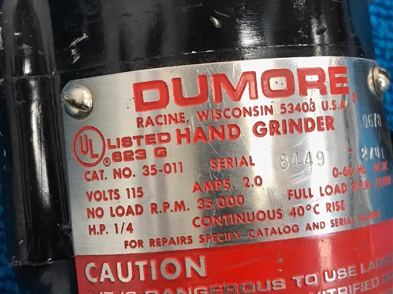 【米軍放出品】DUMORE ハンドグラインダー フレキシブルシャフトグラインダー 電動工具 (140) ☆BE31BK-W_画像4