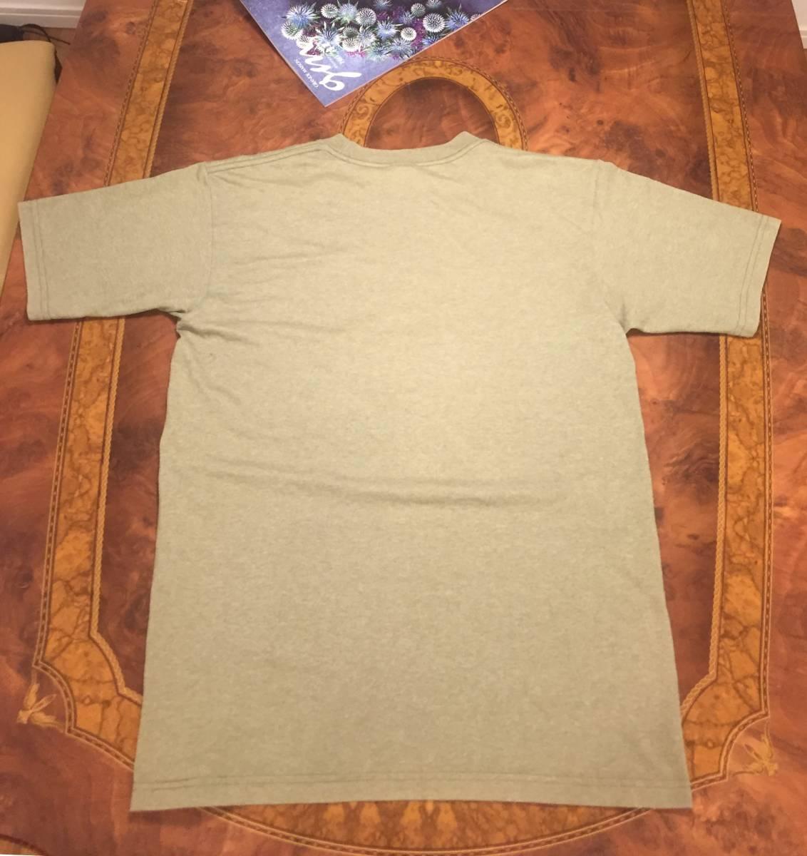 THE NORTH FACE ザ・ノース・フェイス Tシャツ・M~L相当・エルサルバドル製・カーキ系・送料無料・Tee shirt