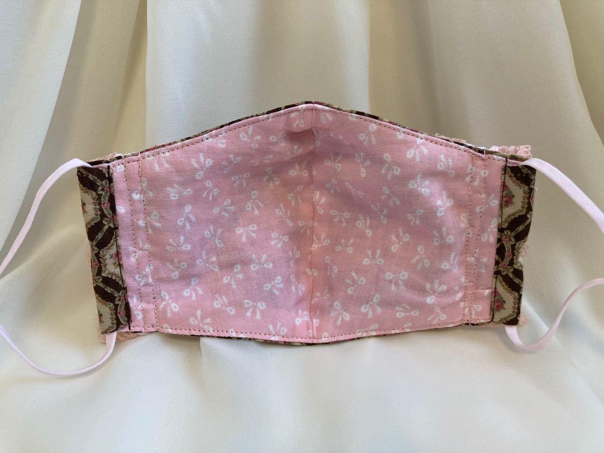 立体インナー ルシアン 薔薇柄 小花柄 フリルレース ハンドメイド