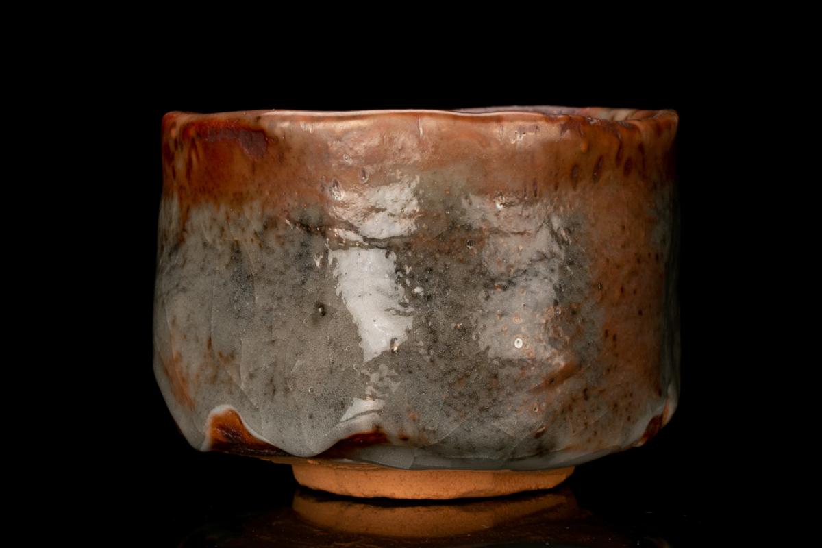 【MG凛】人間国宝『鈴木蔵』 志野茶碗 共箱 共布 本物保証_画像6