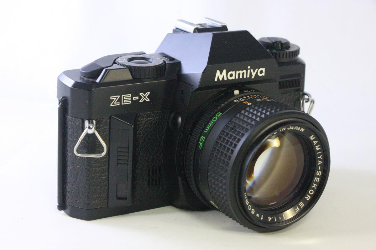 実用★マミヤ MAMIYA ZE-X+MAMIYA-SEKOR EF 50mm F1.4★シャッター全速完動・露出計完動★GGG930_画像1