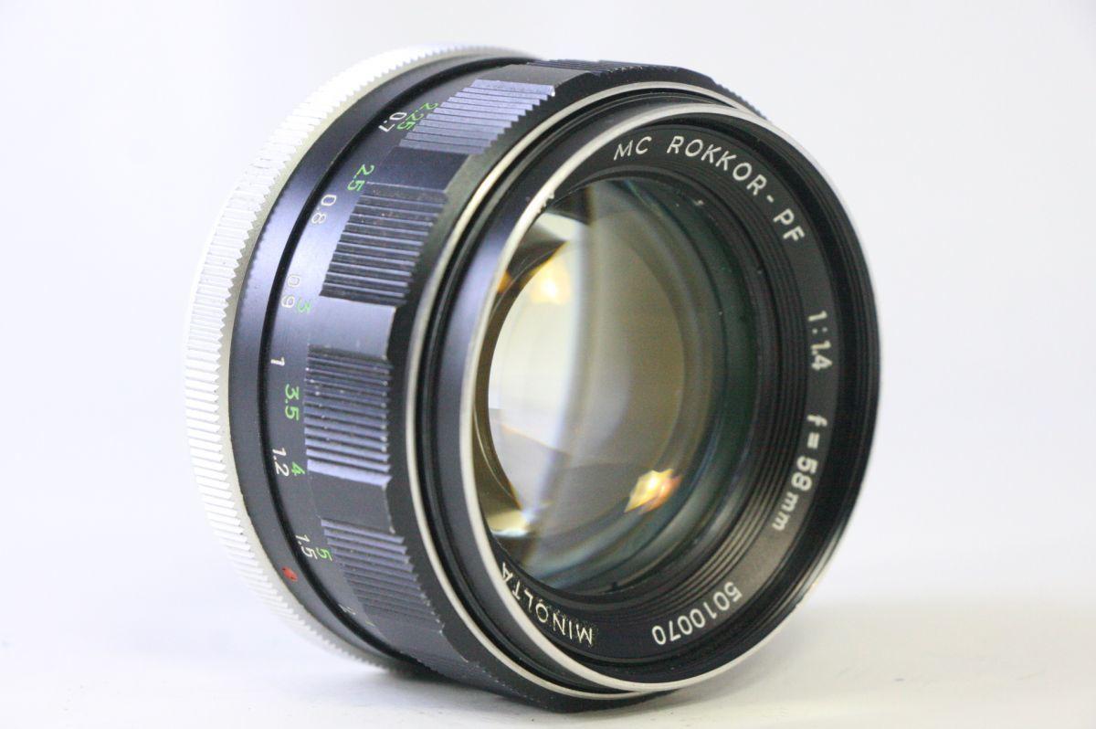 ミノルタ MINOLTA MC ROKKOR-PF 58mm F/1.4★レンズ縁くもり★GGG938_画像1