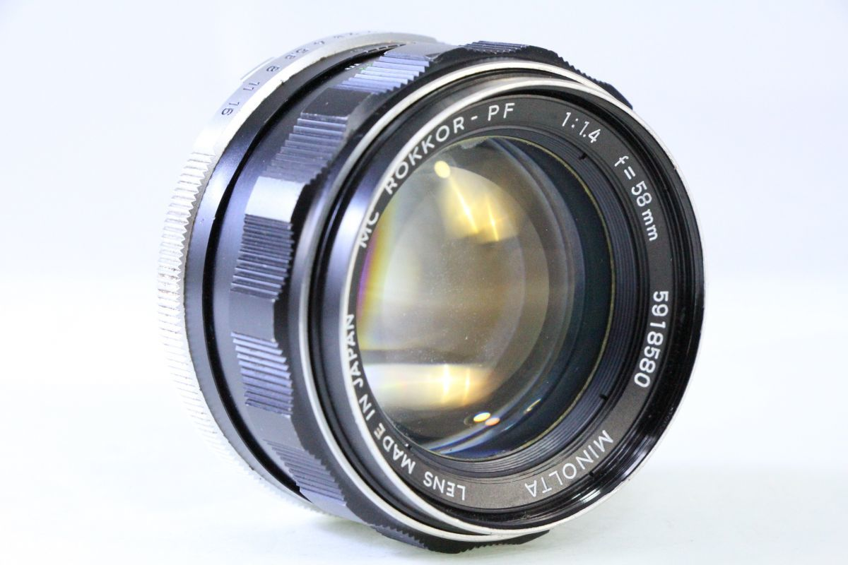 ★ミノルタ MINOLTA MC ROKKOR-PF 58mm F1.4★薄クモリ★3177_画像1