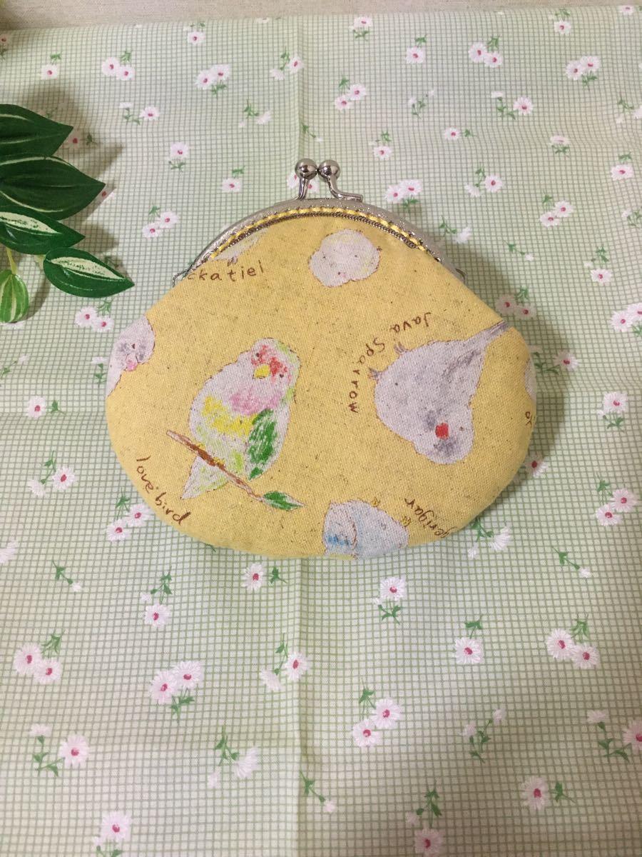 【こゆまる様専用】グラニーバッグ うさぎ柄 &  がま口コインケース パッチワーク風 &  がま口財布(黄色)