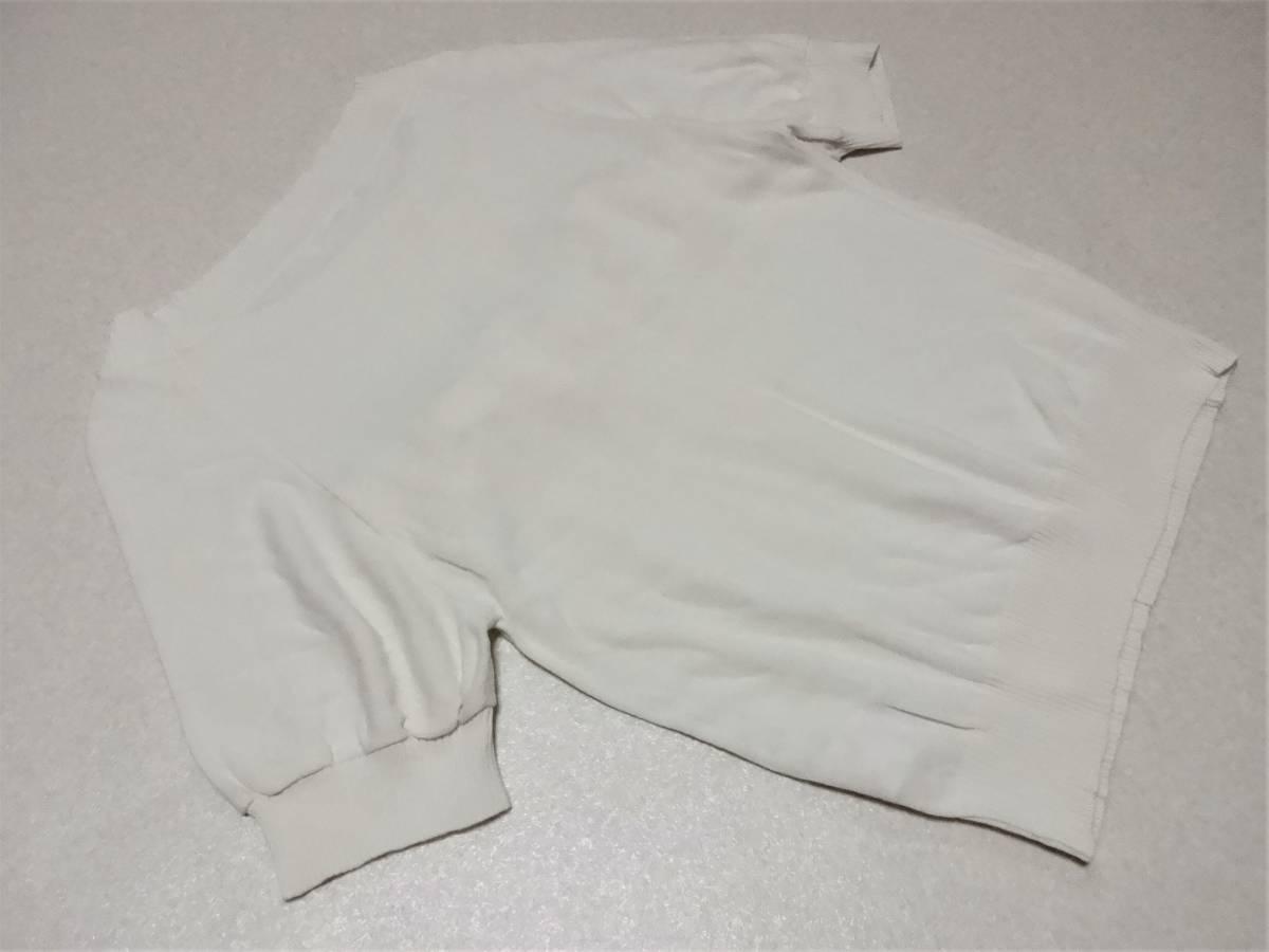 ワールド♪【Couture brooch】オフホワイト半袖ニットカットソー38★新品同様♪_画像3
