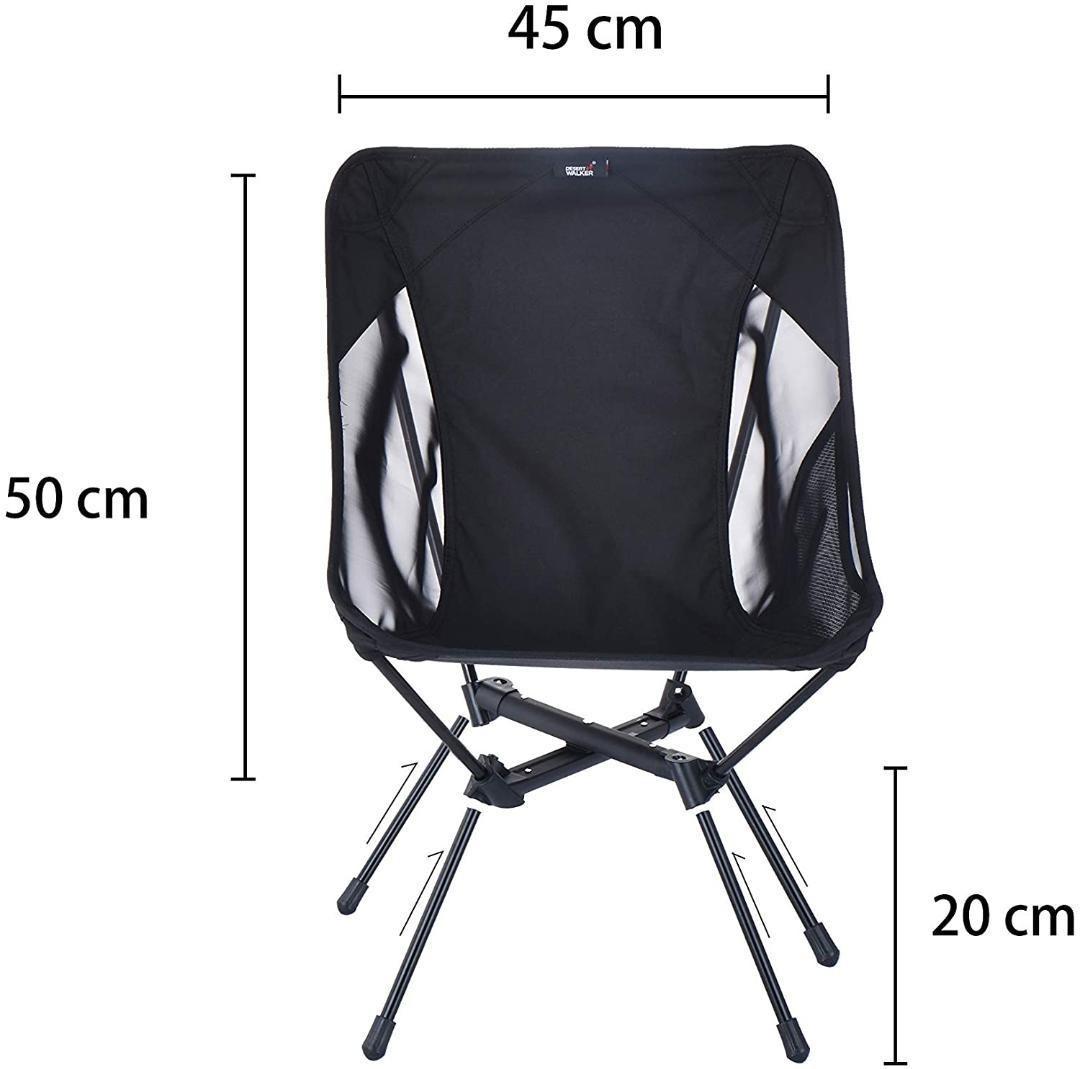 アウトドアチェア キャンプ椅子 カラー: 黑
